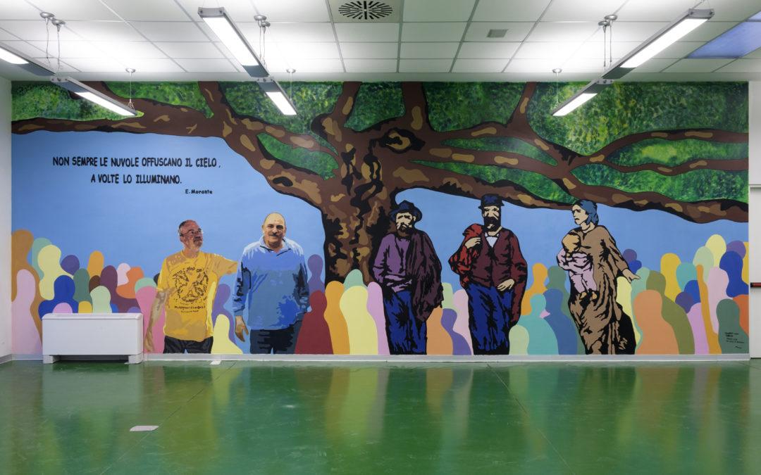 """Assemblea di bilancio Frassati di Produzione e Lavoro. Inaugurazione Murales sala assemblee e istituzione """"Borsa di Studio in memoria di Luciano Bettini"""""""
