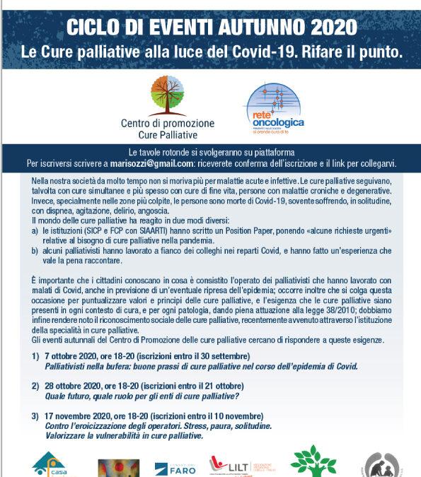 Centro di Promozione Cure Palliative – Incontri formativi